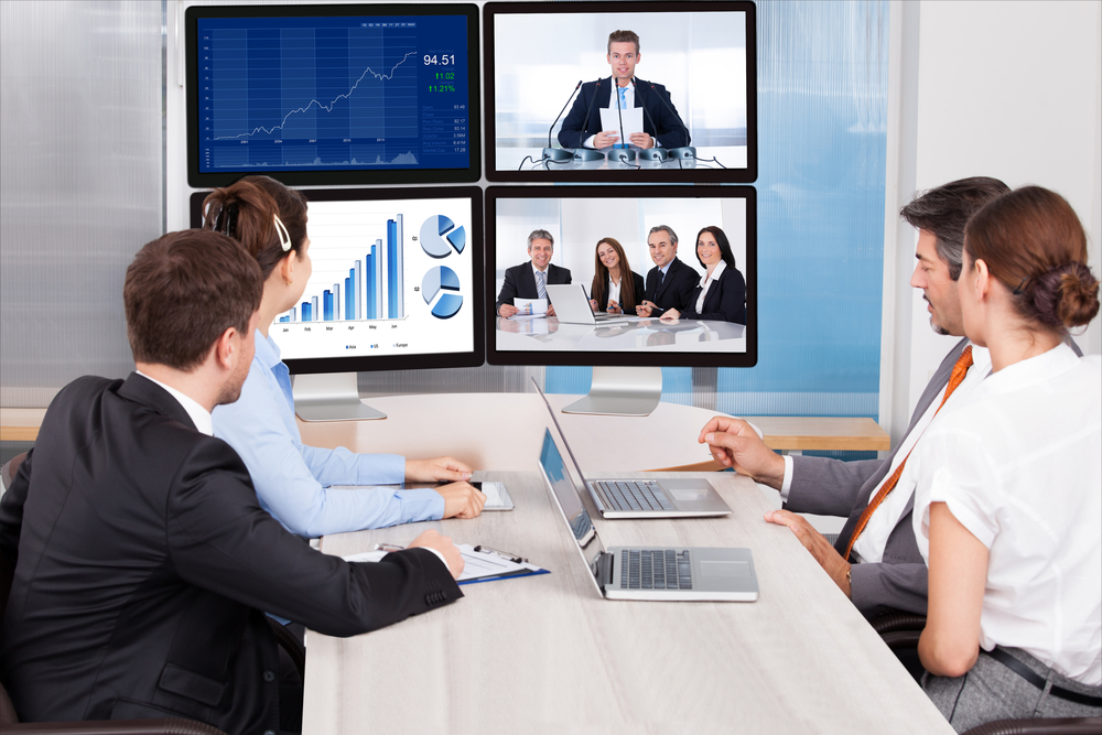 People Using a Conference Room