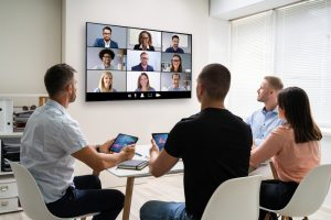 People sitting in a conference room